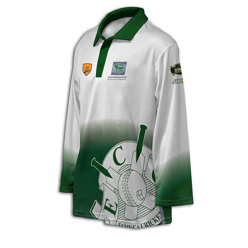 Custom Cricket Long Sleeve Polo 002