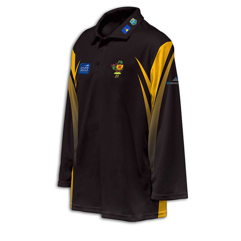Custom Cricket Long Sleeve Polo 006