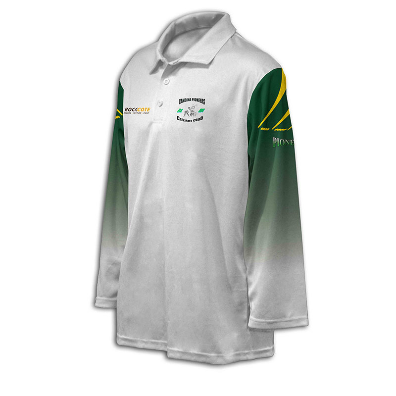 Custom Cricket Long Sleeve Polo 011