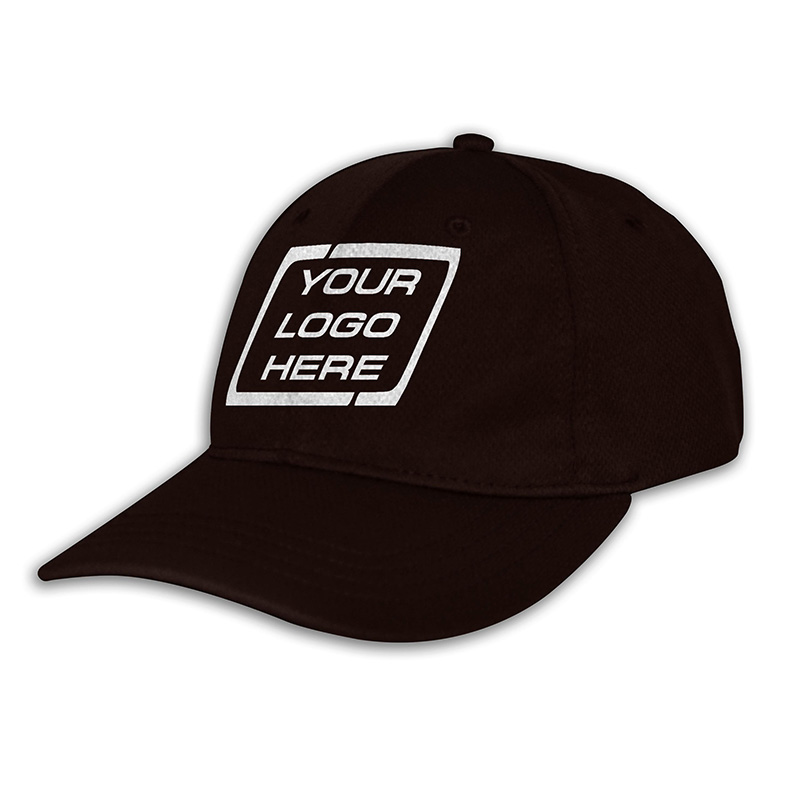 Custom Fitted Sports Cap-Brown