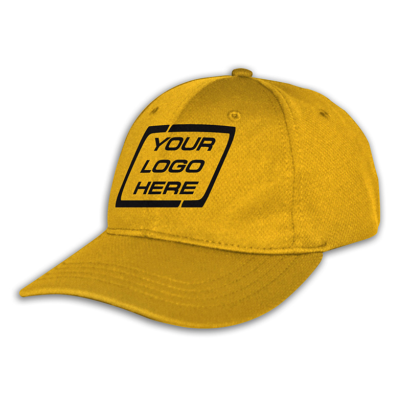 Custom Fitted Sports Cap-Gold