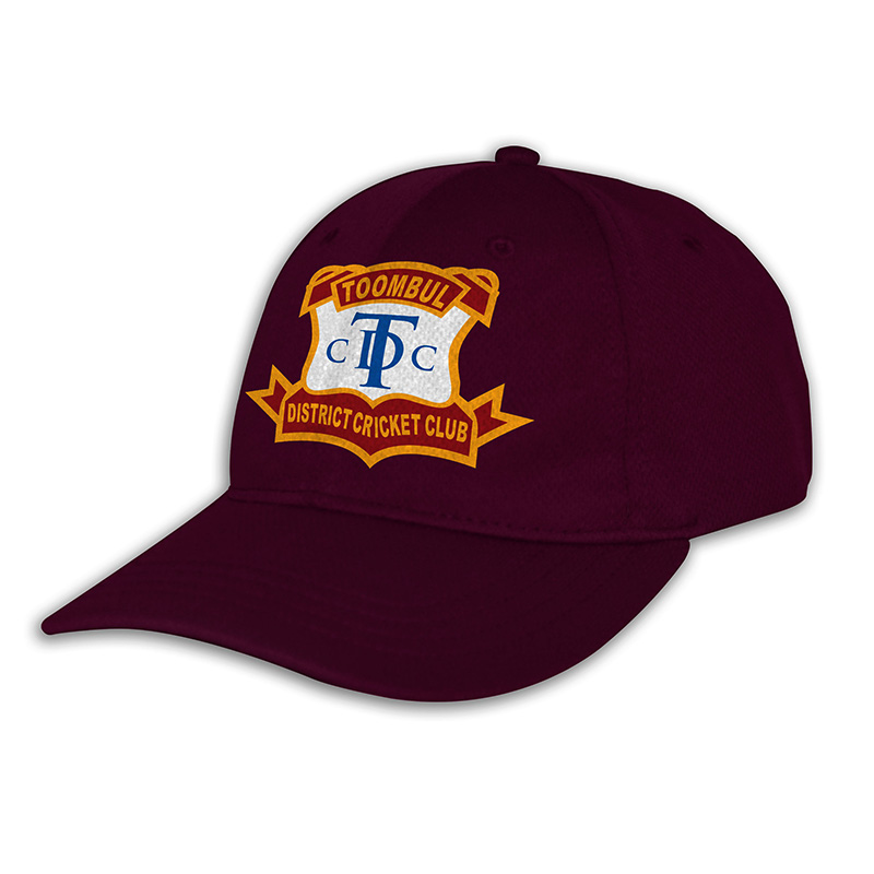 Custom Fitted Sports Cap-Maroon