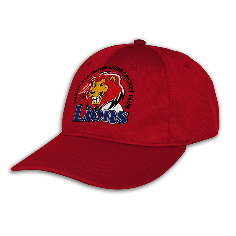 Custom Fitted Sports Cap-Red