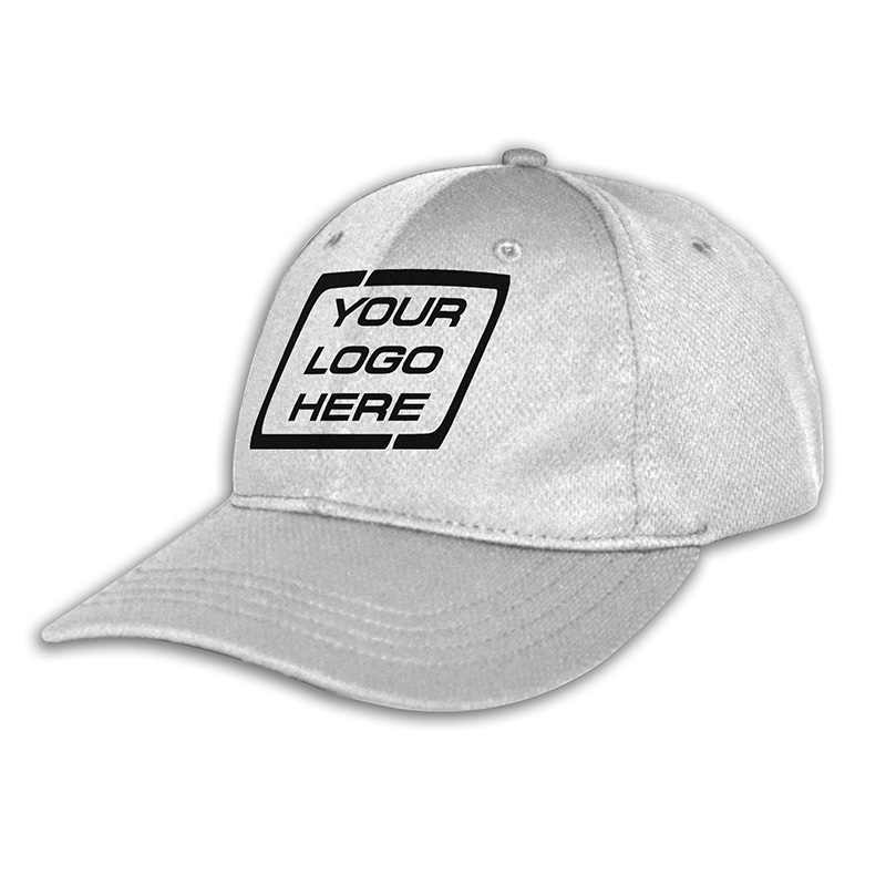 Custom Fitted Sports Cap-White
