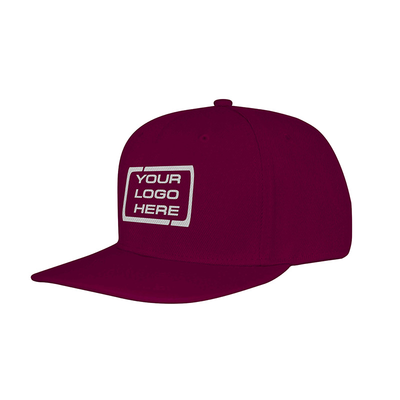 Flat Pro Adjustable Baseball Cap Maroon