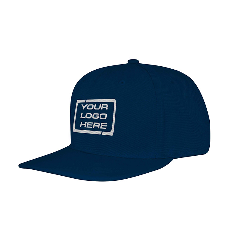Flat Pro Adjustable Baseball Cap Navy