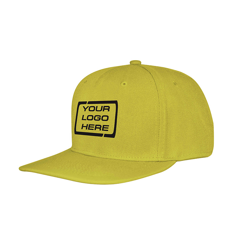 Flat Pro Adjustable Baseball Cap Yellow