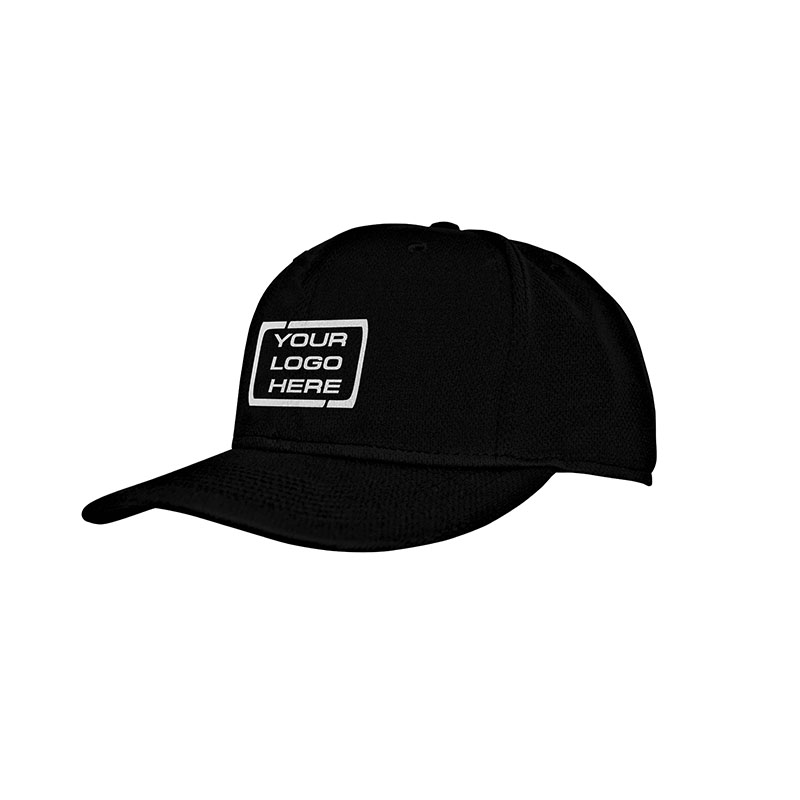 Flat Pro Fitted Baseball Cap Black