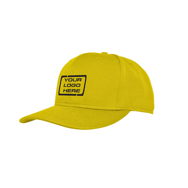 Flat Pro Fitted Baseball Cap Gold