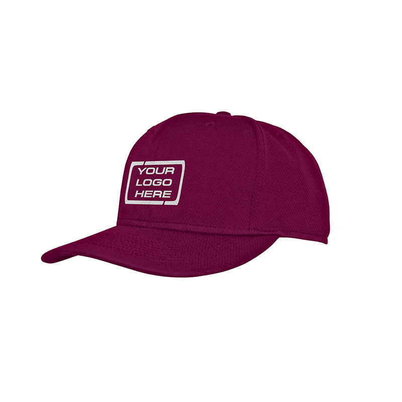 Flat Pro Fitted Baseball Cap Maroon