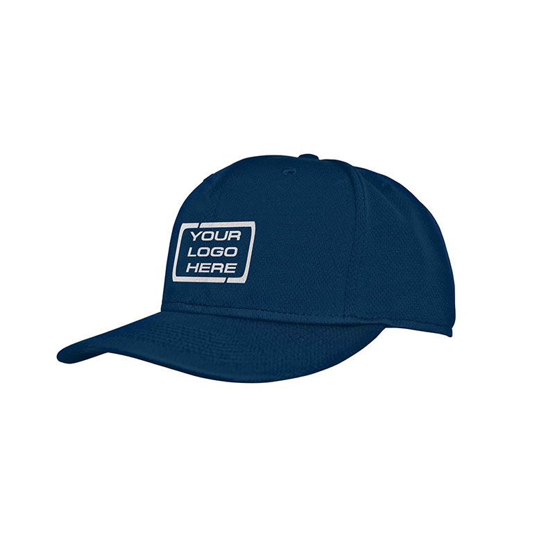 Flat Pro Fitted Baseball Cap Navy