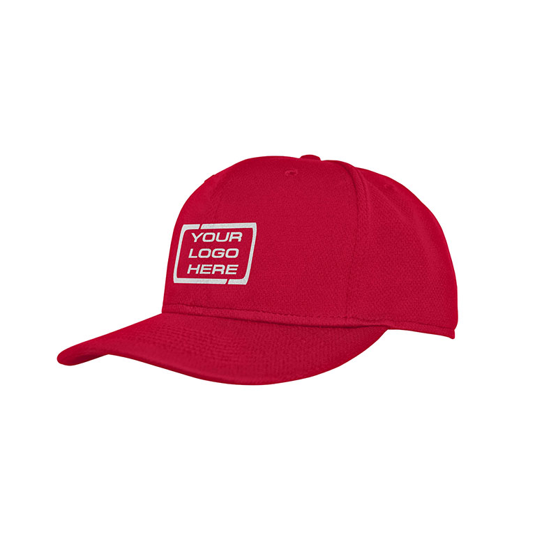 Flat Pro Fitted Baseball Cap Red