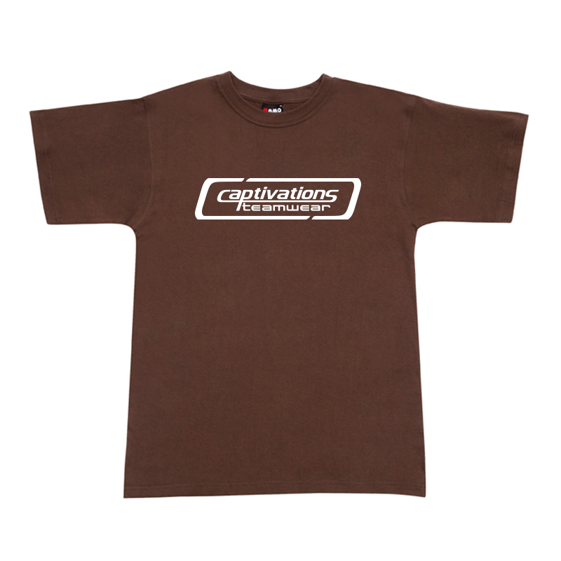 Printed Cotton Tee - Brown