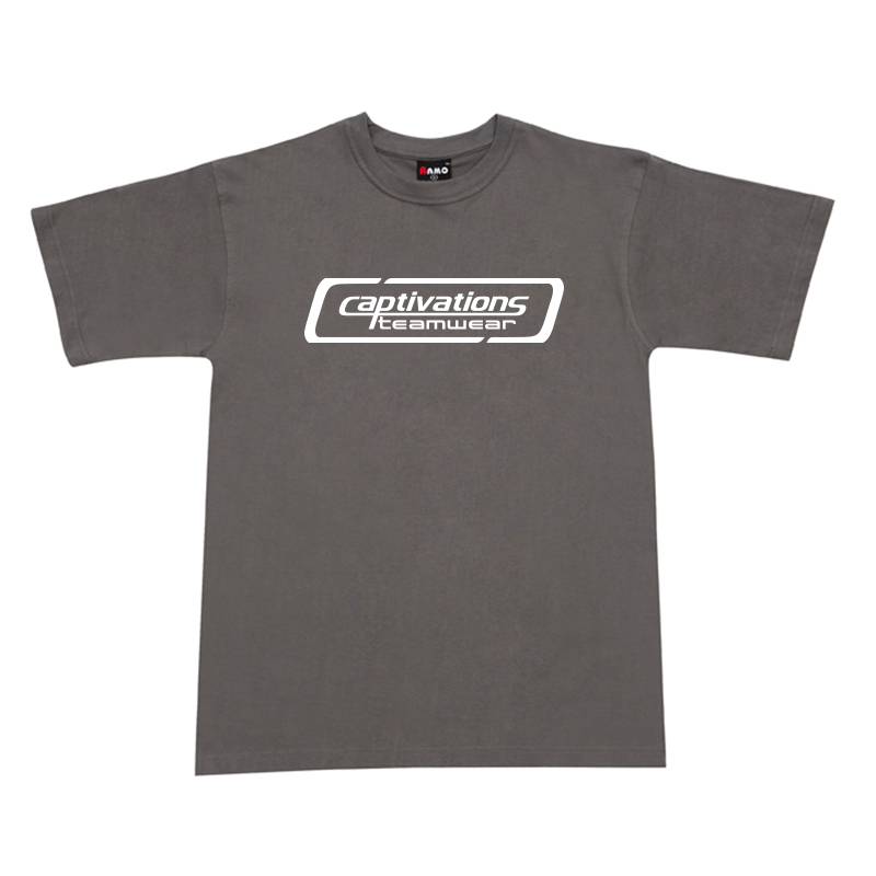 Printed Cotton Tee - Charcoal