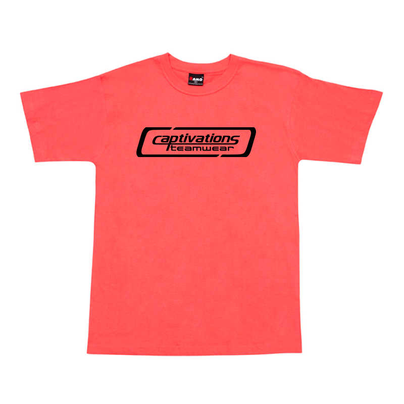 Printed Cotton Tee - Coral Red