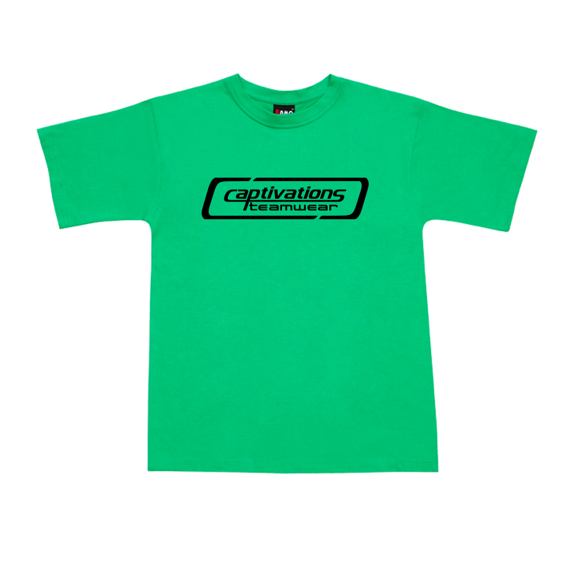 Printed Cotton Tee - Emerald Green