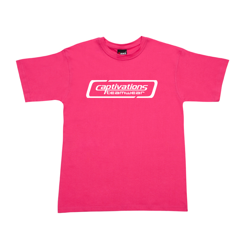 Printed Cotton Tee - Hot Pink