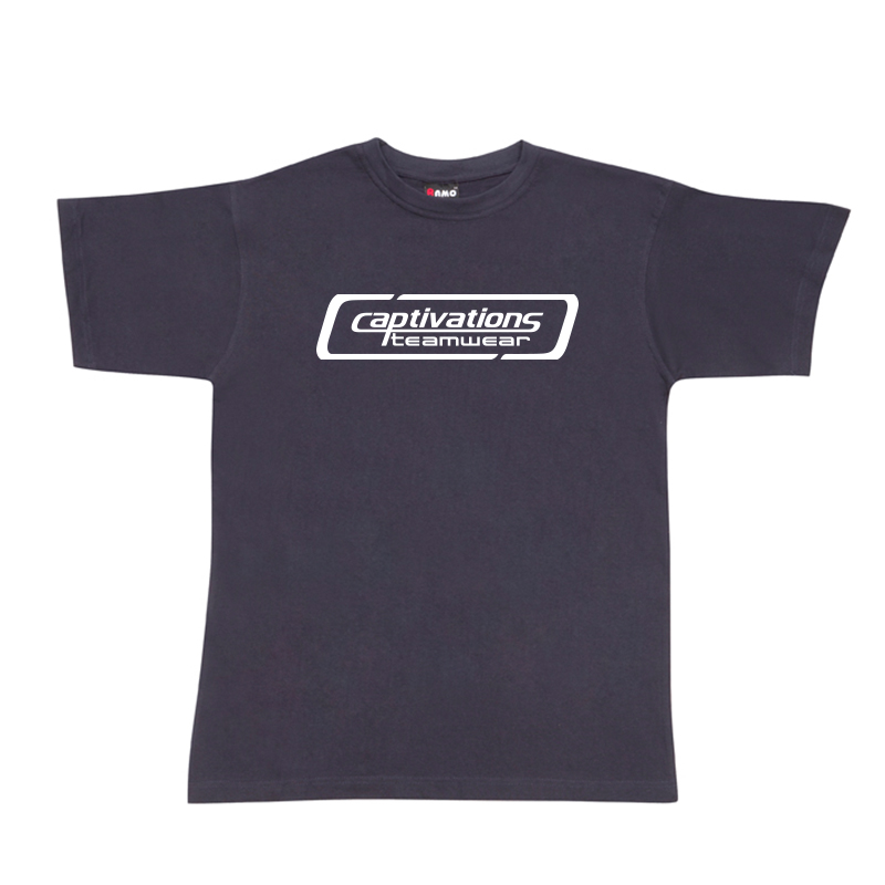 Printed Cotton Tee - Navy