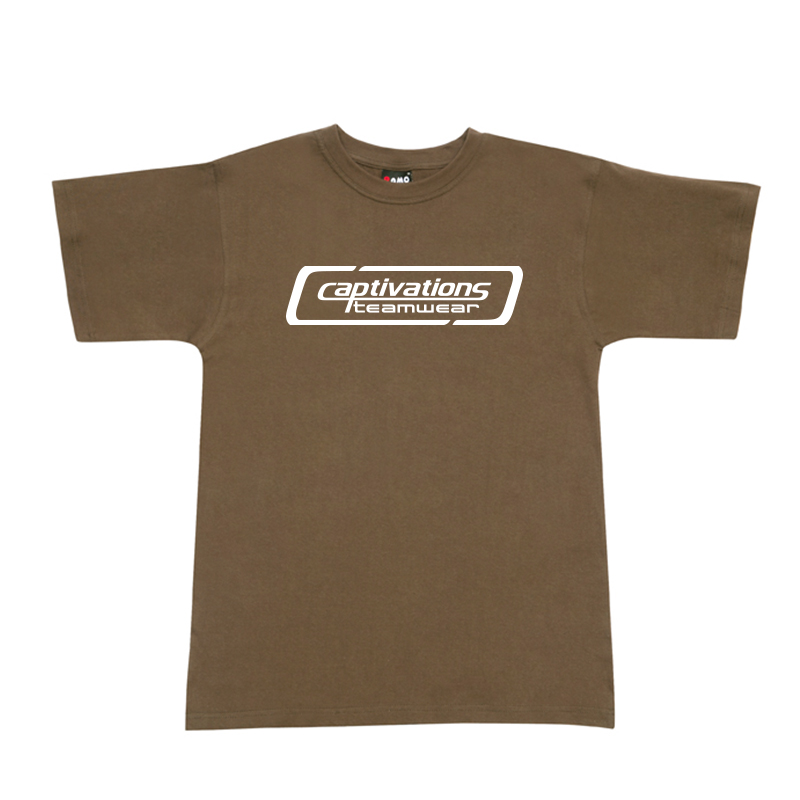 Printed Cotton Tee - Olive