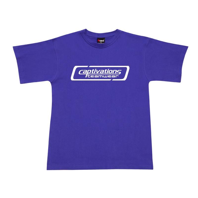 Printed Cotton Tee - Purple