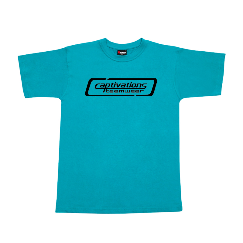 Printed Cotton Tee - Turquoise