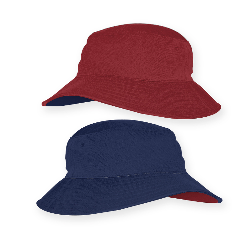 RBT0019_Reverse Bucket Hat_Red and Royal_ 800x800
