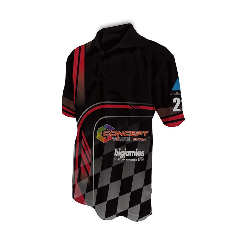 Race Crew Polo Shirt Design 26
