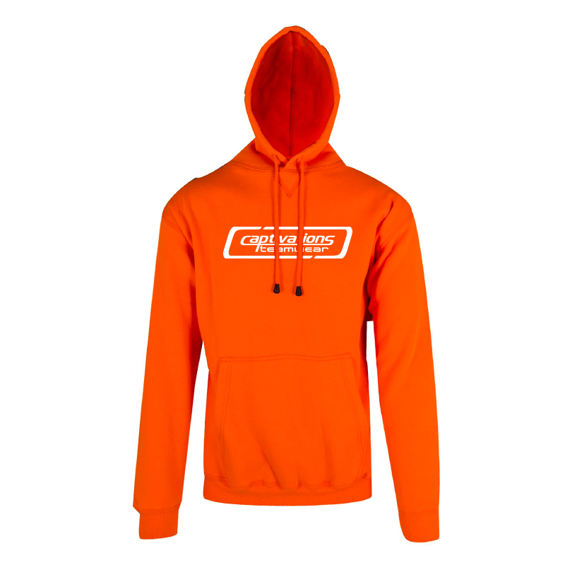 Screen Printed Hoodie - Orange