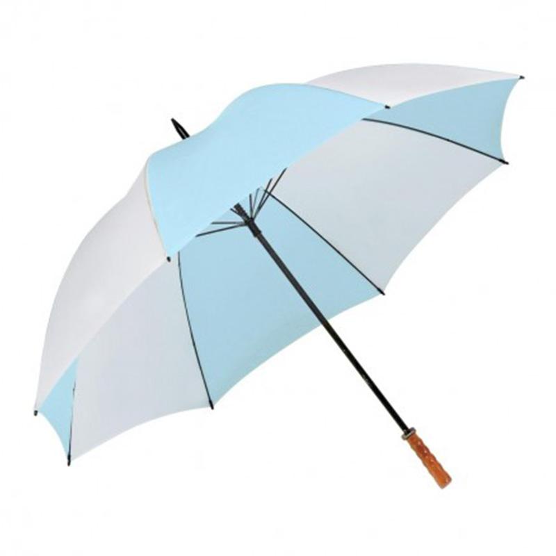 Virgina Umbrella - Sky Blue & White
