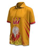 Ten Pin Bowling Button Up Unisex Shirt 160x180