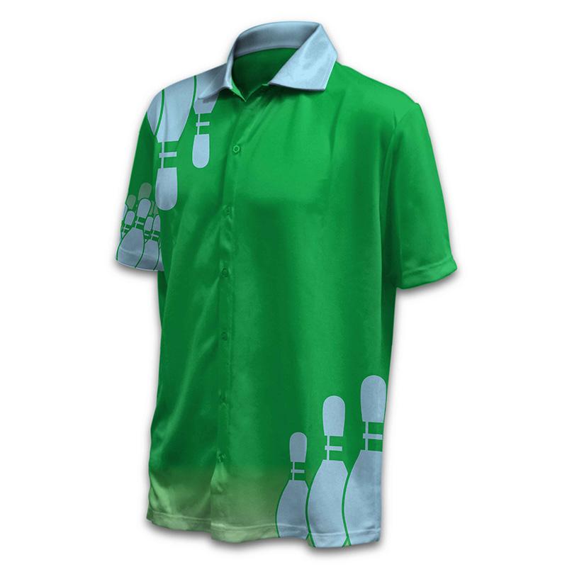 Unisex Bowling Button Up Shirt - Design 011 - V2