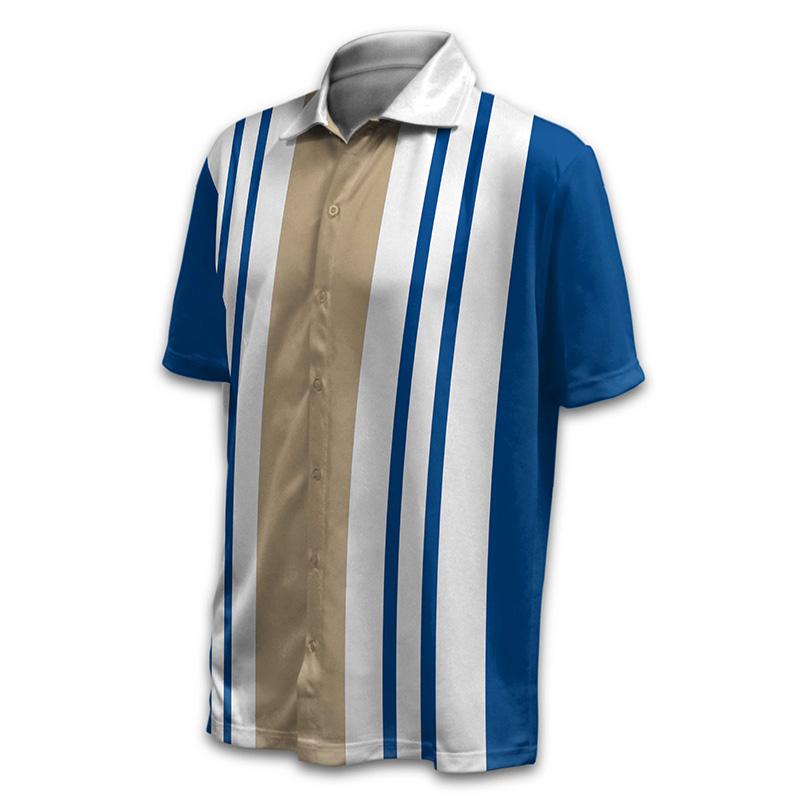 Unisex Bowling Button Up Shirt - Design 014