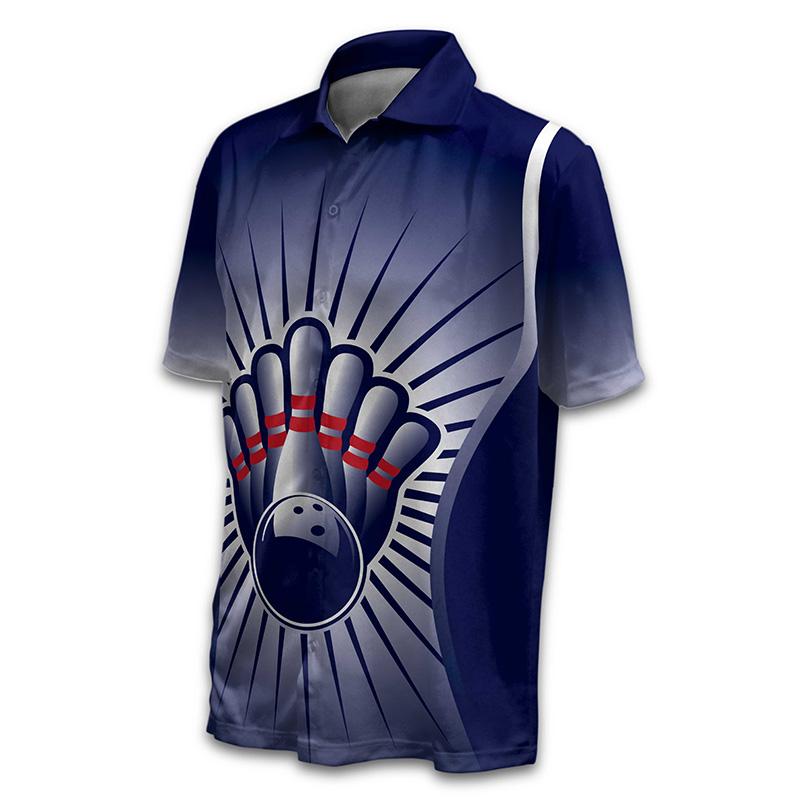Unisex Bowling Button Up Shirt - Design 018