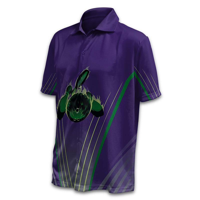 Unisex Bowling Button Up Shirt - Design 02