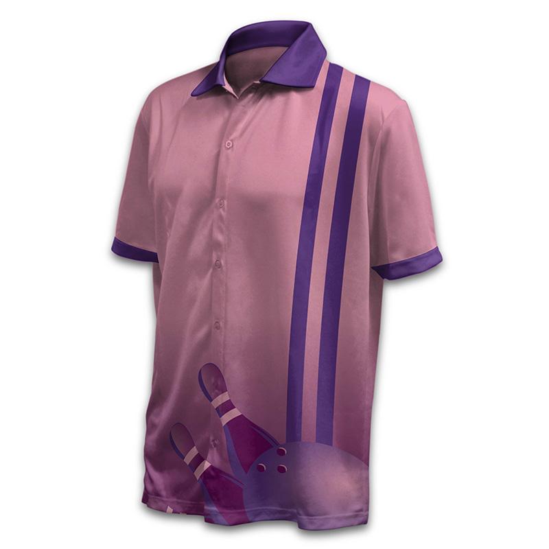 Unisex Bowling Button Up Shirt - Design 03