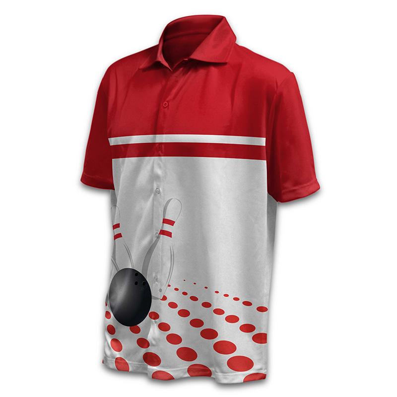 Unisex Bowling Button Up Shirt - Design 05