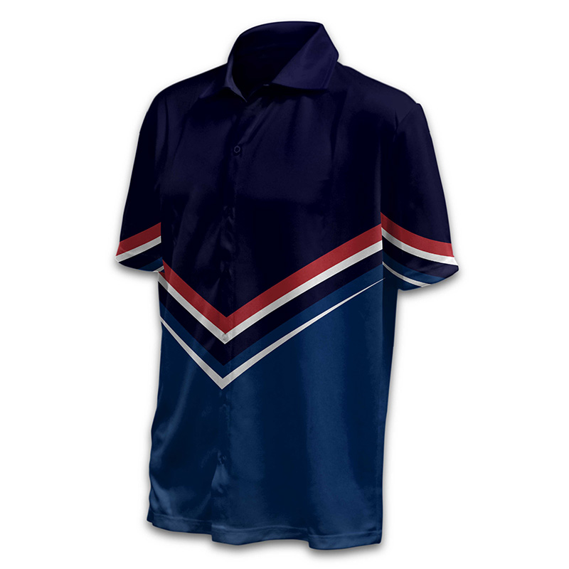 Unisex Bowling Button Up Shirt - Design 07