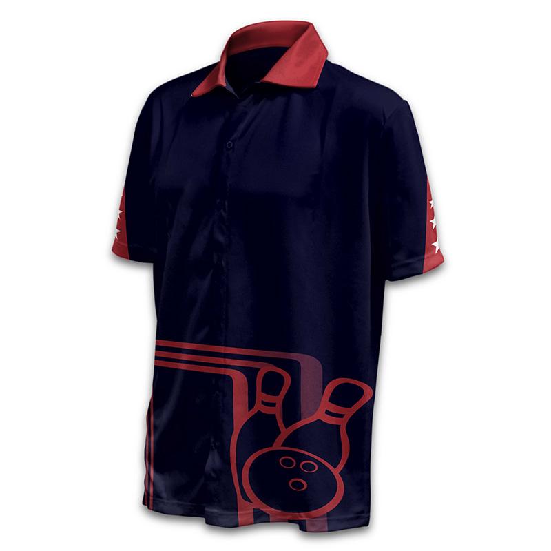 Unisex Bowling Button Up Shirt - Design 10