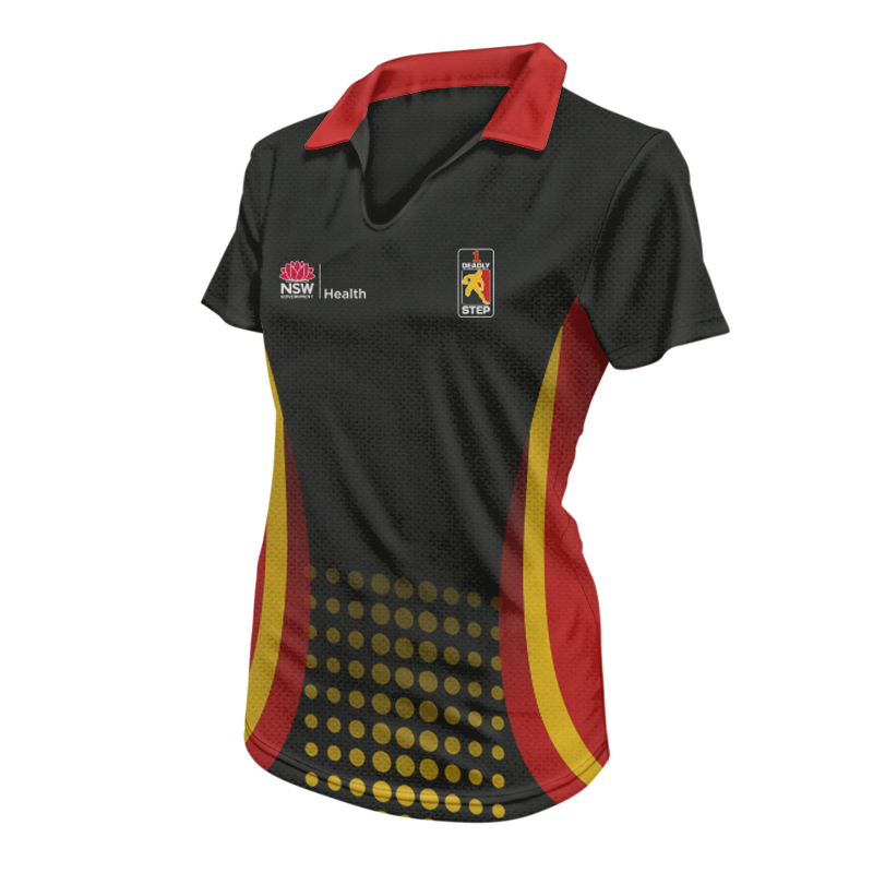 Women's Indigenous Sports Polo - Design 4