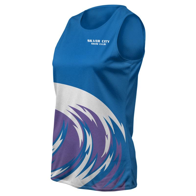 Ladies Swimming Training Singlet - 800x800 - Design 4