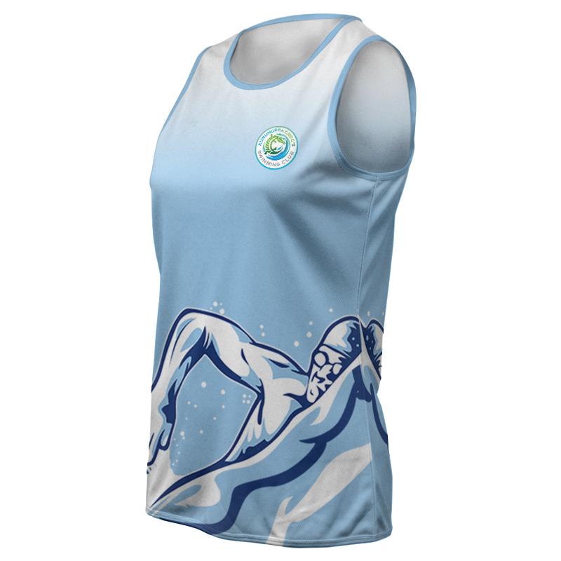 Ladies Swimming Training Singlet - 800x800 - Design 5