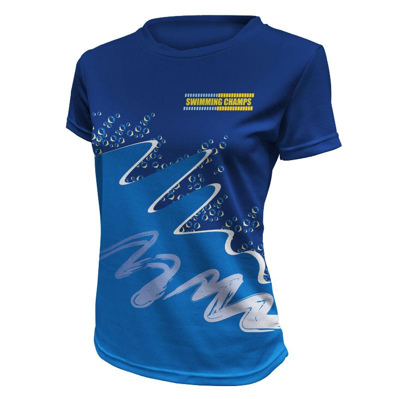 Ladies Swimming Training Tee - 800x800 - Design 6