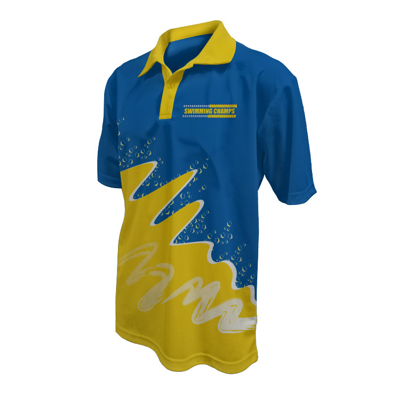 Unisex Swimming Polo - 800x800 - Design 6