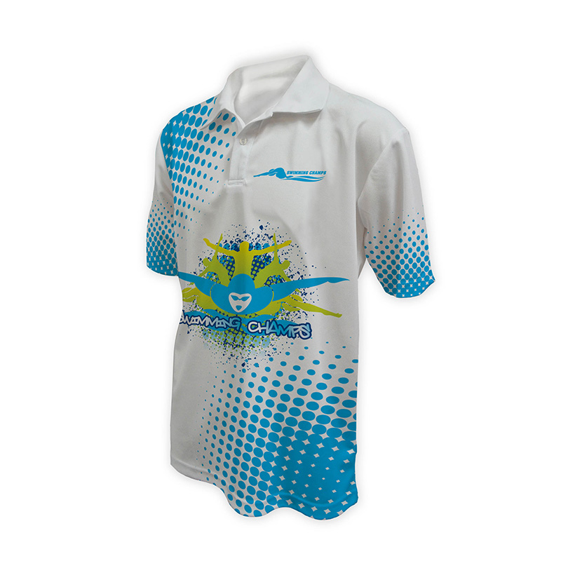 Unisex Swimming Polo - Design (1)