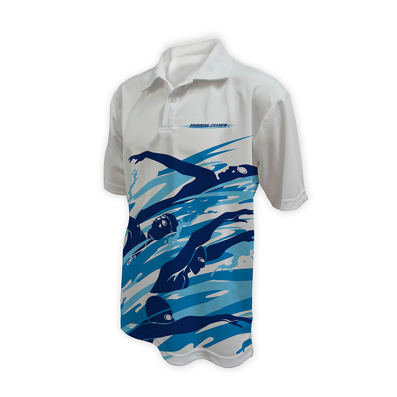 Unisex Swimming Polo - Design (10)