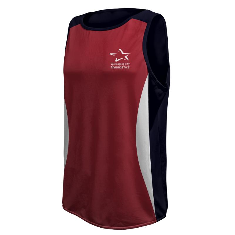 Unisex Round Neck Gymnastics Singlet 011