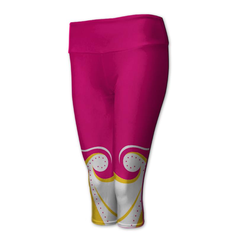 Gymnastics 3/4 Length Comfort Waist Tights 012