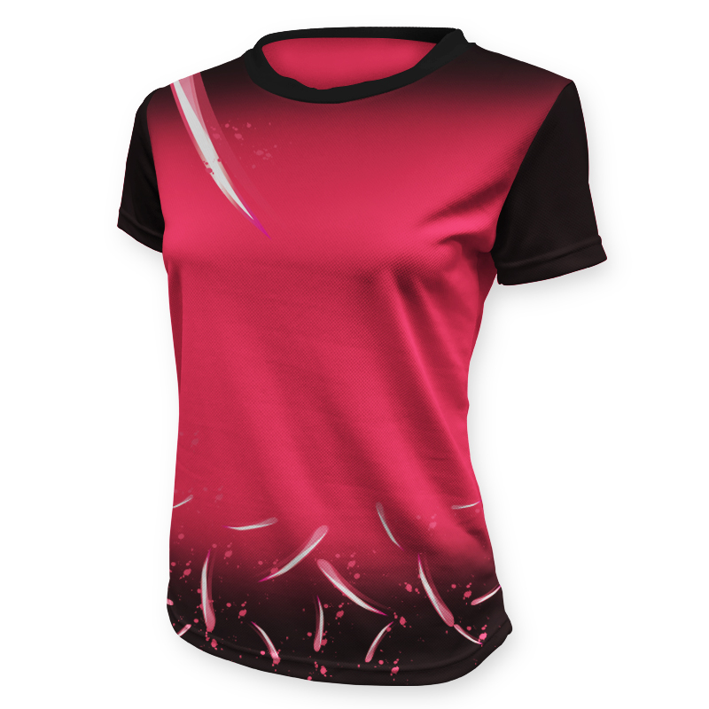Ladies Custom Netball Tee 006