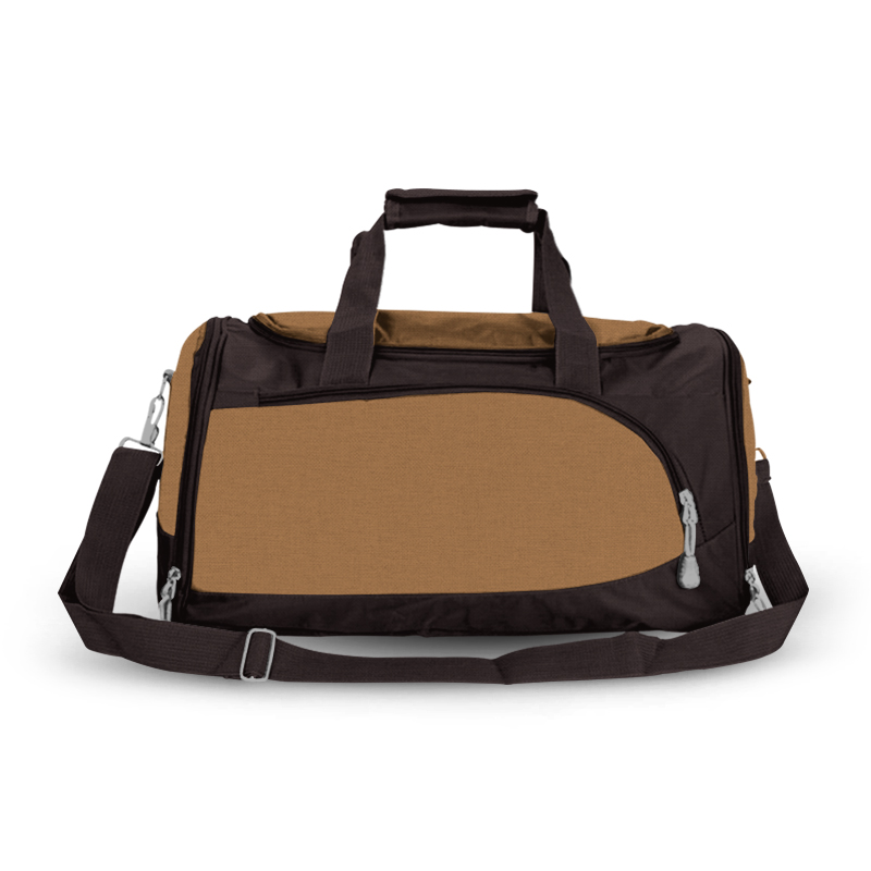 Training Sports Bag - Tan & Dark Brown