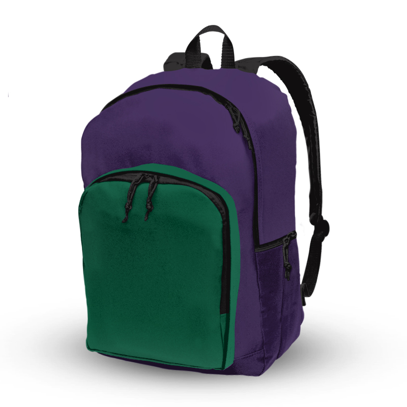 Basic Backpack_Green and Purple